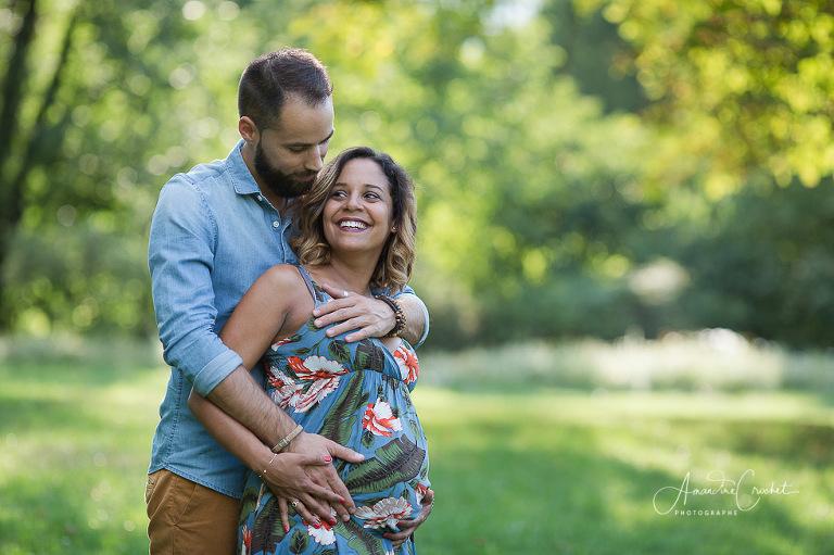 Photos de grossesse au parc du Bachais